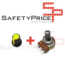 Embellecedor boton amarillo +Potenciometro B100K lineal 100k - Arduino knob 16mm