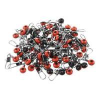 1X(100X Schnelle Perlen Laufwirbel Wirbel Sicherheitskarabiner Posen Adapter DA