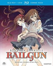 A Certain Scientific Railgun . Complete Season 1 . Anime . 4 DVD + 3 Blu-ray NEU