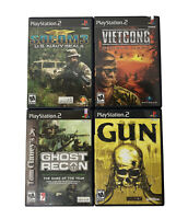 Playstation 2 PS2 Game Lot of 4 Socom 3, Gun, Ghost Recon, Vietcong Purple Haze