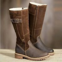 Women's Winter Warm Plush Long Boots High Casual Pull on Shoes Winter Snow Boots
