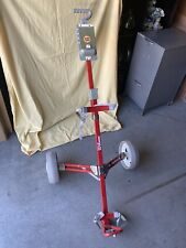 WILSON Golf Bag Holder/Caddy Push-Pull Cart Folding/Collapsible Red Metal NICE