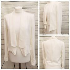 05576948c4e Mango Ladies White Cropped Tuxedo Jacket Blazer Wedding Work Office BNWT  Size S
