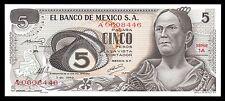 El Banco de Mexico 5 Pesos Serie 1A-A 3.12.1969, P-62a. UNC.