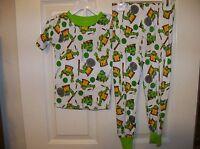 Teenage Muntant Ninja Turtle TMNT White 2 Piece Long Pajama PJ Boys Size 3T NWT