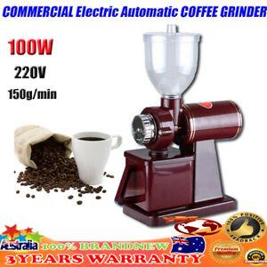COMMERCIAL Electric Automatic COFFEE GRINDER Burr Espresso Bean Home Grind AU