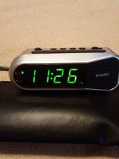 Sharp Digital LED Alarm Clock Electric w/ Battery Backup Dual Ascending Alarm