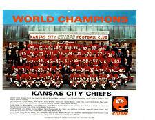 1969 KANSAS CITY CHIEFS  8X10 TEAM PHOTO SUPER BOWL WORLD CHAMPIONS  FOOTBALL