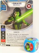 Star Wars Destiny - #008 Quinlan Vos + dice-Blue-Empire at War