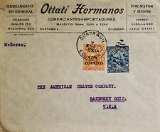 L) 1920 ECUADOR, PRESIDENT GARCIA MORENO, BLUE, 1OC, ROCA, 1C, ORANGE, CIRCULATE