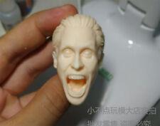 1/6 scale Scream Jared Leto Joker blank Head Sculpt unpainted Suicide Squad