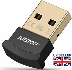 Bluetooth Stereo Wireless Audio Transmitter Receiver USB PC Dongle Adapter UK