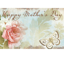 50ct Happy Mother's Day Butterfly Blank Florist Enclosure Cards Small Note Tags