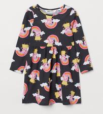 Peppa Pig Girls Long Sleeved Rainbow Dress 2-4 Years NEW
