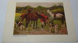FOX HUNTING POSTCARD DEWARS WHISKEY  c 1908   819
