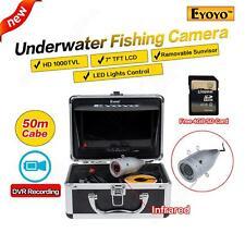EYOYO 50M Infrared Underwater IR Fishing Fish Finder Camera Video Recorder+4GB