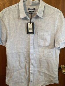Sportscraft 100% Linen Mens Short Sleeve Shirt Size M New With Tags