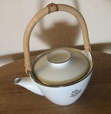 NEW Vintage Noritake BESSIE Teapot with Lid Rare 5788 Japan RATTAN HANDLE