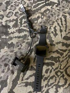 Fitbit Versa 2 Smartwatch - Black Carbon Aluminum Case FB507