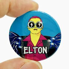 Elton John Glam Rock 38mm Button Pin Badge