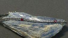 "Diamond and Ruby Tennis Bracelet 18k White Gold 7"""