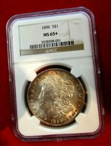 1896 Morgan Dollar NGC MS65+