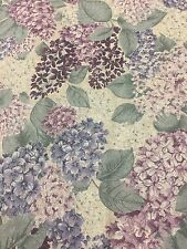 Mauve Purple Pink Floral Cotton Fabric Quilt Sew OOP 1 Yard