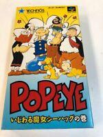 SNES -- POPEYE boxed. w/ manual. Super famicom, SFC Game Soft JP