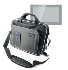 Blue/Black Storage Bag For Fujitsu STYLISTIC Q572 With Shoulder Carry Strap