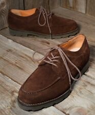 RALPH LAUREN Sz 6.5 Brown Lace-up Suede Oxfords Lug Sole EUC