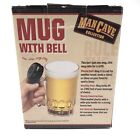 MAN CAVE COLLECTION Novelty Beer Mug with Bell for a Refill 24 Oz. NEW Gag Gift