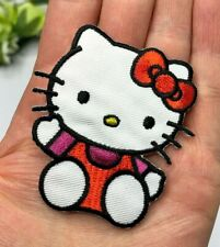 Hello Kitty Iron On Patch Sew On Cat Embellishment Applique Pink Party Girls Bag