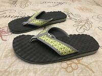 Privo by Clarks Summer Sandals Womens 10 M Flip Flop Thong Lime Green Gray