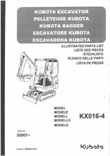 Kubota Excavator KX016-4 Parts Manual