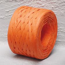 Paper Raffia Orange 4mm Wide 100 Metres