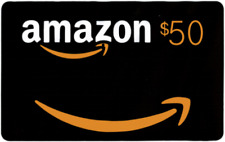 $50 NEW AMAZON Gift Card Ships FAST! Guaranteed by Paypal with NO ISSUES