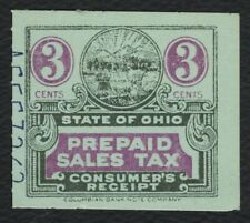 3c Ohio: Prepaid Sales Tax Consumer, Used [2] **ANY 4=FREE SHIPPING**