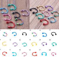 Women Men Horseshoe Fake Nose Ring Hoop Lip Body Piercing Ear Ring Jewelry