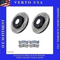 Front Brake Rotors Ceramic Brake Pads For Cadillac, Chevrolet, GMC base on Chart