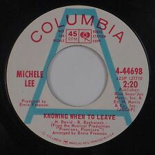 MICHELE LEE: Knowing When to Leave USA Columbia DJ Soul Pop 45 NM