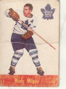 1955-56 Parkhurst #12 Rudy Migay Toronto Maple Leafs