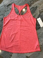 Women's M Layer 8 Tank Top Racerback Athletic NWT Coral Pink Orange Open Back