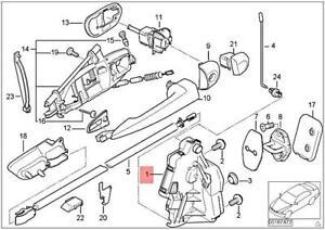 Genuine BMW M3 E46 316Ci 318Ci Door Lock With Motor Actuator Right 51217011250