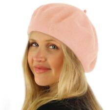 Classic Winter 100% Wool Warm French Art Basque Beret Tam Beanie Hat Cap Pink