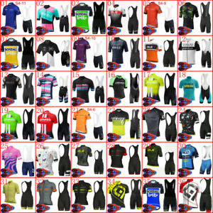 2021 Mens Cycling Clothing Summer Team Cycling Short Sleeve Jersey Bib Short Set