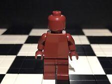 Lego Plain Dark Red Minifigure Head Torso Hands Legs / Monochrome