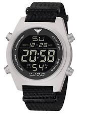 KHS Mens Wrist Band Watch Inceptor Steel Digital Khs.incsd.nb