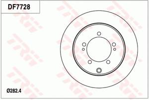 TRW Brake Rotor Pair Rear DF7728S fits Mitsubishi Verada 3.5 4x4 (KJ), 3.5 4x...