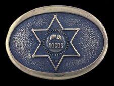 Vtg 76 Orange County Deputy Sheriff AOCDS Police Gatos TBW Brass Belt Buckle
