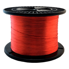 """28 AWG Gauge Enameled Copper Magnet Wire 5.0 lbs 10135/' Length 0.0135/"""" 155C Red"""